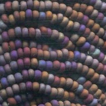 Size 11 Czech #780 Dk. Brown Matte Rainbow