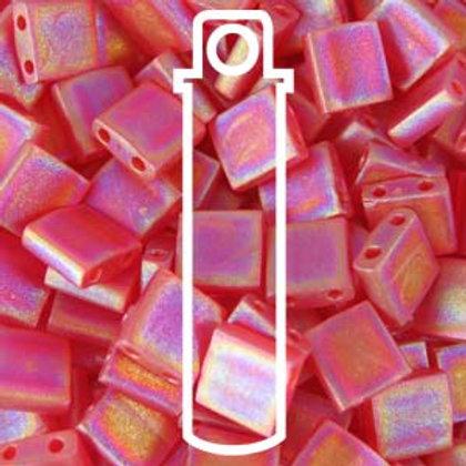 Tila Beads - Ruby Matte ab