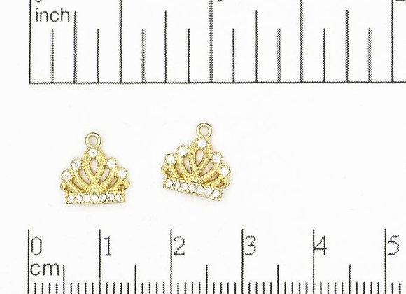 Cubic Zirconia Crown Charm