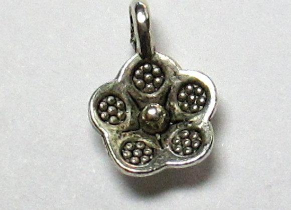 Sm. Silver Flower 9mm
