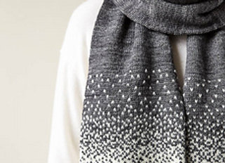 Falling Snow Scarf Kit