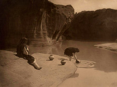 At the Old  Well at Acoma, 1904