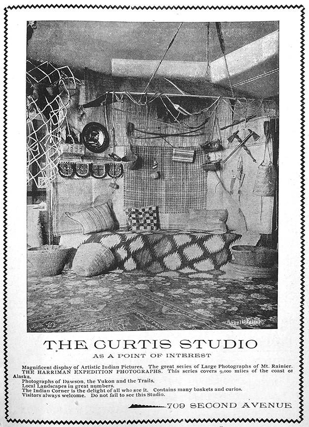 Curtis Studio advertisement for their Indian corner.