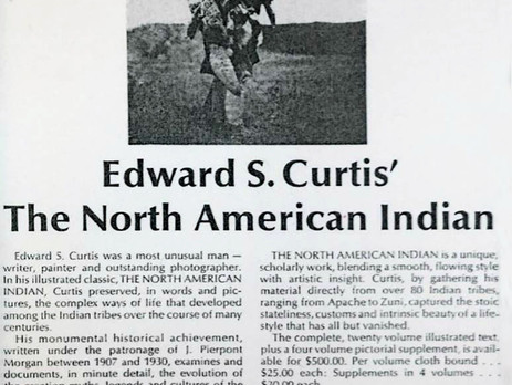 Reprint Editions and Other Important Reproductions of The North American Indian