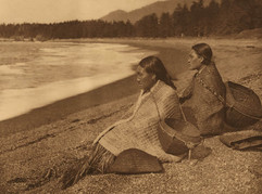 On the shores at Nootka, 1915
