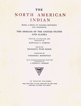 Title page of Volume I of The North American Indian