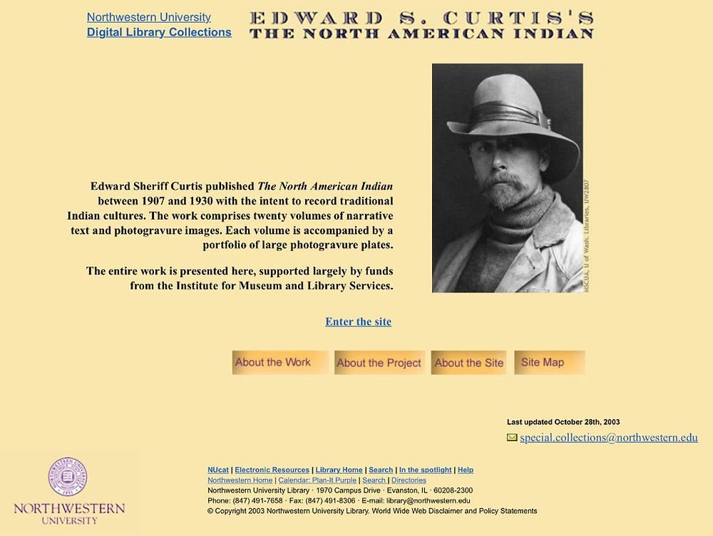 The website of Northwestern University's online edition of The North American Indian.