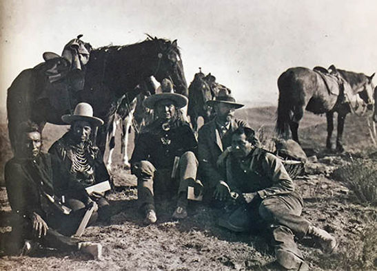 Edward S. Curtis with Native scGoes Ahead, Hairy Moccasin, White Man Runs Him, Alexander Upshaw