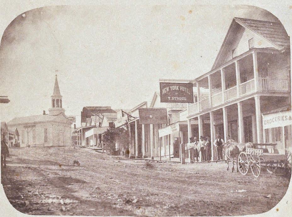 Julia Ann Rudolph — Nevada City, c1856