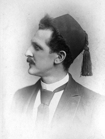 Portrait of Adolph Muhr by Alfred Brisbois, 1890