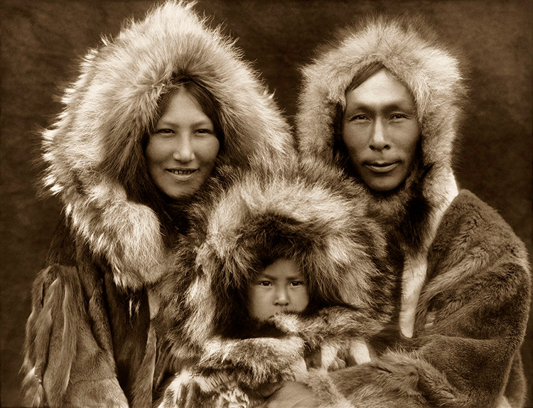 A Family Group – Noatak by Edward S Curtis 1927