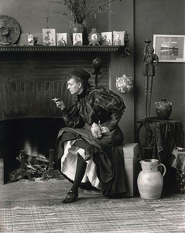 "Frances Benjamin Johnson — Self-Portrait as a ""New Woman"", 1896"