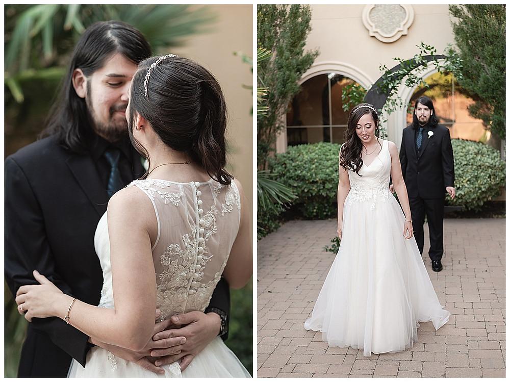 Chapel Ana Villa, The colony Texas, dallas wedding, dallas wedding photography, dallas wedding venue bride and groom first look