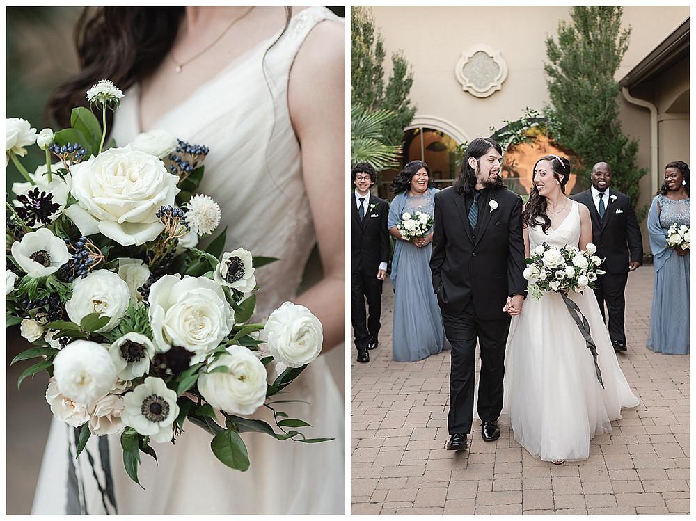 Chapel Ana Villa, The colony Texas, dallas wedding, dallas wedding photography, dallas wedding venue , wedding party formal, blue bridesmaids dresses, black suits