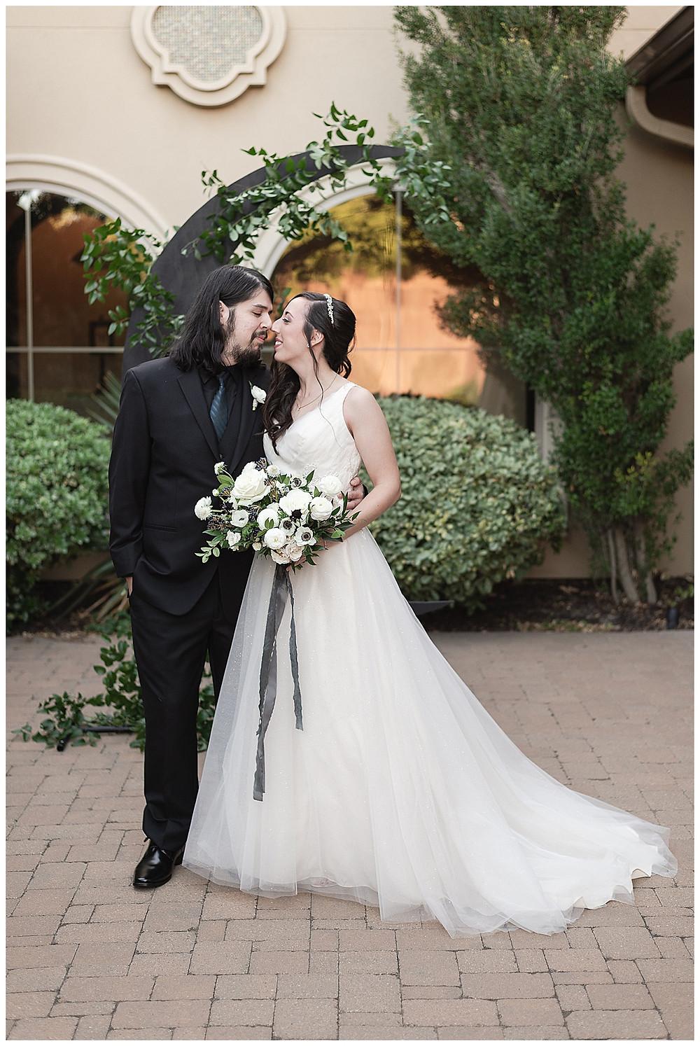 Chapel Ana Villa, The colony Texas, dallas wedding, dallas wedding photography, dallas wedding venue bride and groom first look, moon greenery install