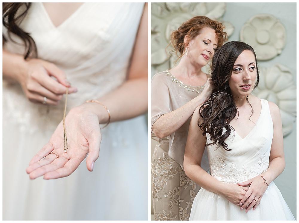 Chapel Ana Villa, The colony Texas, dallas wedding, dallas wedding photography, dallas wedding venue, brides mom putting on jewelry