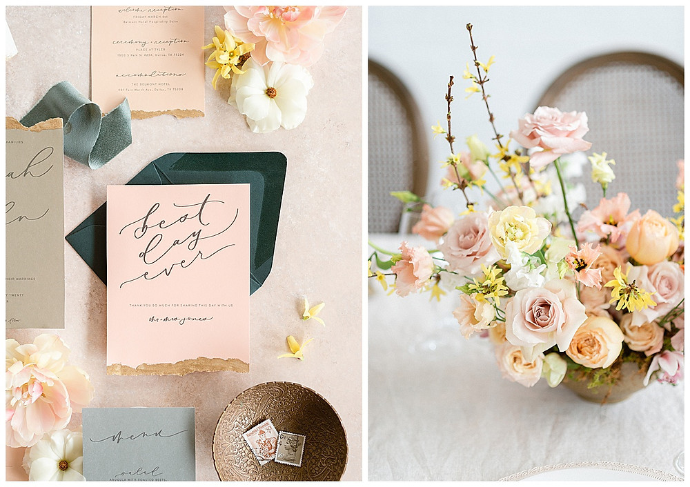 film photography , dallas wedding table arrangement with yellow, peach, pink flowers, pink roses, yellow tulipsdallas wedding photographer, beatbox portraits, brown chairs, The Place At Tyler, Dallas Texas , dallas wedding photography