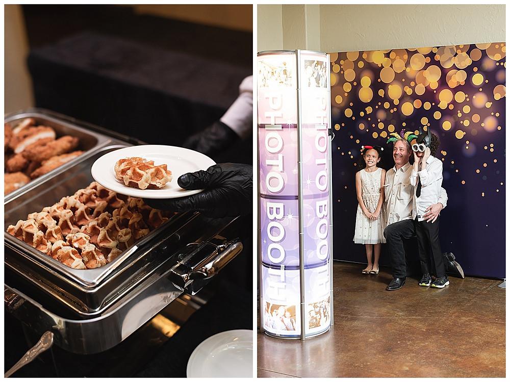 Chapel Ana Villa, The colony Texas, dallas wedding, dallas wedding photography, dallas wedding venue , brunch wedding food, waffle and chicken
