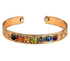 Chakra Magnetic Copper Bangle