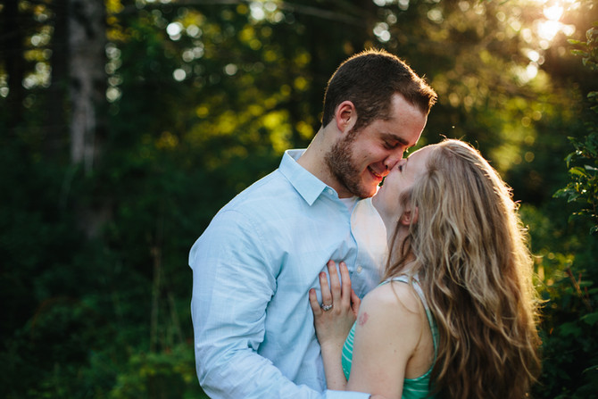 Evansburg State Park Engagement: Jackie & Steve