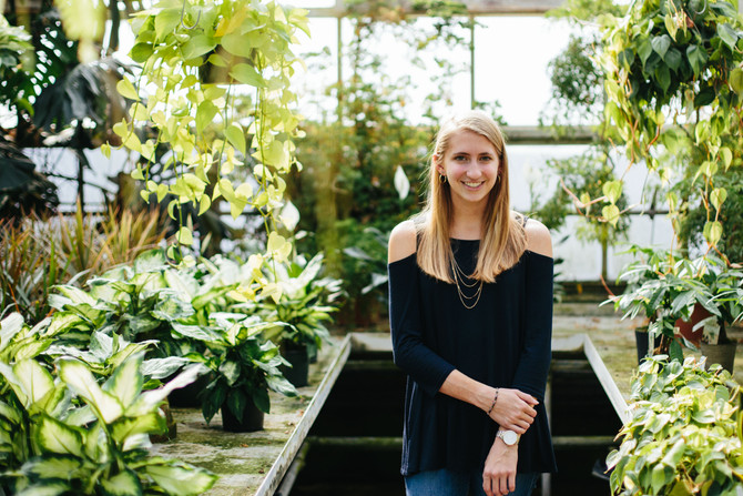 Ott's Greenhouse Senior Portraits: Olivia