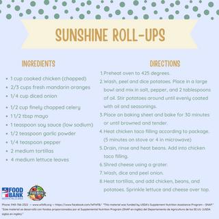 Sunshine Roll Ups