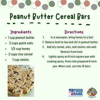 Peanut Butter Cereal Bars