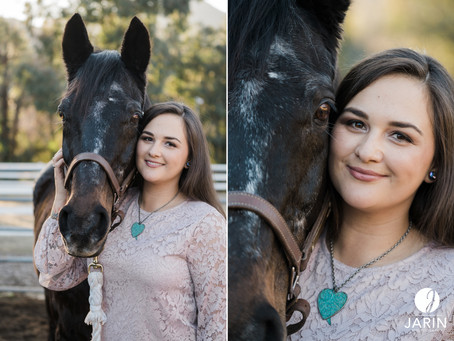Jen & Apollo | Horse and Rider Portraits | Poway, San Diego