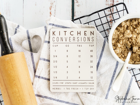 Product Photos for Etsy | Kitchen Conversion Magnet | Oceanside, Ca