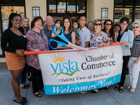 Ribbon Cutting with the Vista Chamber of Commerce