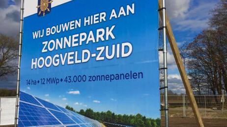 Startsein voor bouw zonnepark Hoogveld-Zuidin Uden