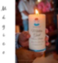 velas impresas par bautizo, panama