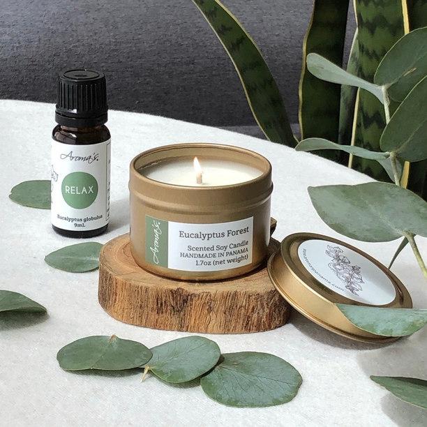 Vela Eucalyptus Forest y Aceite RELAX