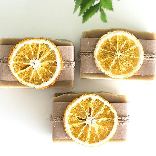 Jabón Romero y Nut con decoración de Naranja