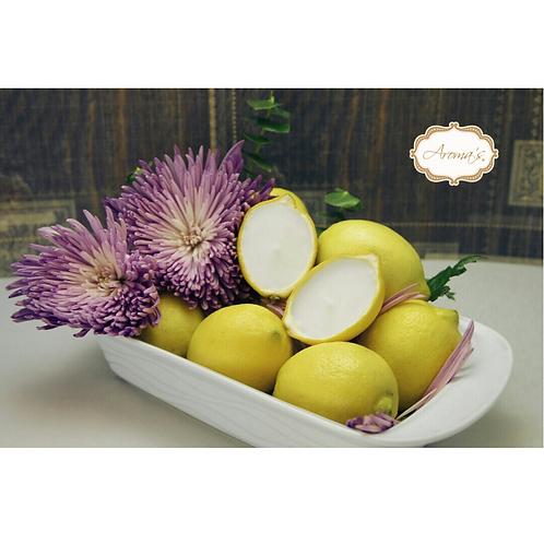 (2 Pack) Velas Aromáticas en Limón Natural.