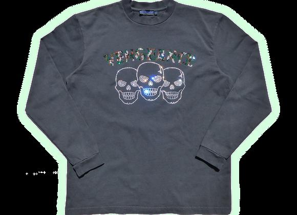 Vengeance Camo Rhinestone ls T-shirt