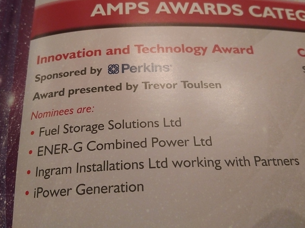iPower Generation Nominated For Innovation and Technology Award 2017
