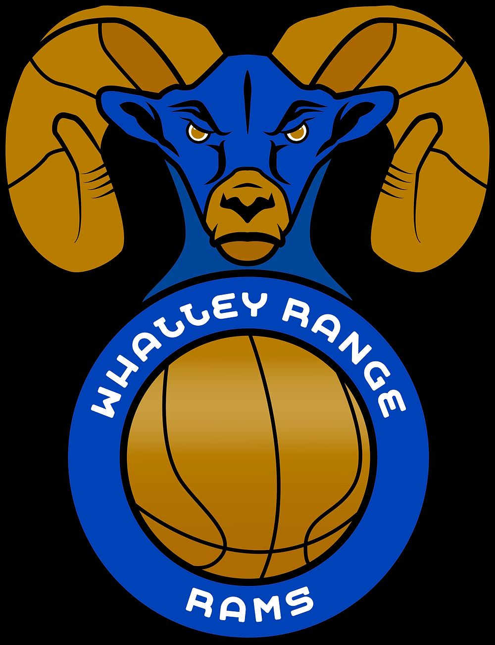 Whalley Range Rams Basketball Logo. By Jordan Bell @jordanadamb