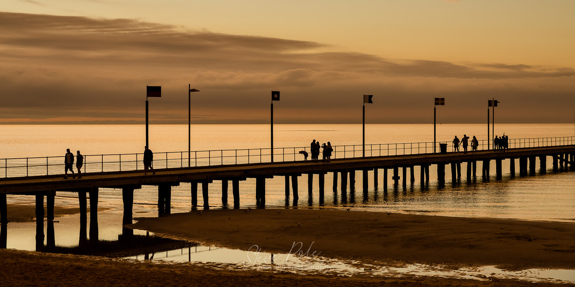 Frankston Pier in Gold