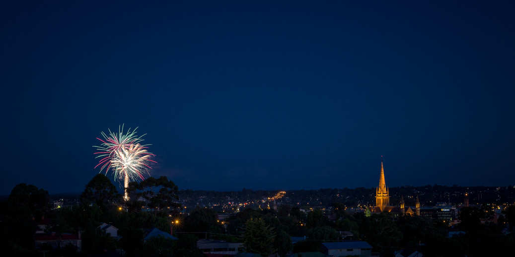 Bendigo New Year Skyline