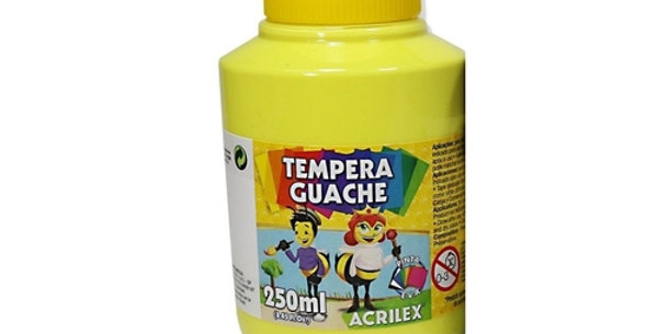 Tinta Guache 250 Ml Amarelo Limão Acrilex