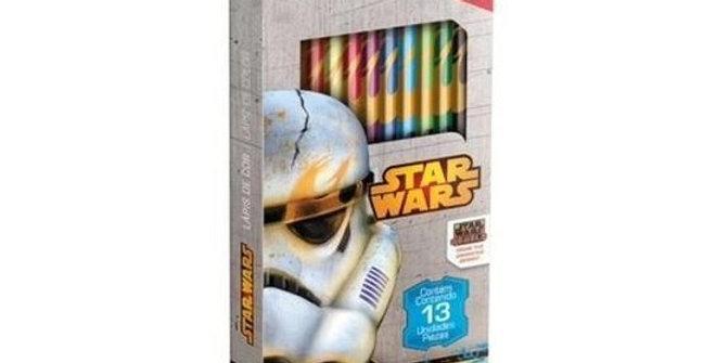Lápis de Cor 12 Cores com Apontador Star Wars - Tris
