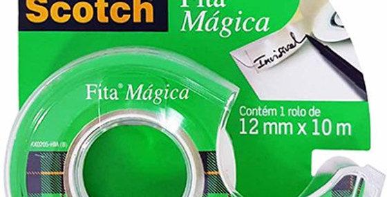 Fita Mágica Scotch® - 12 mm x 10 m - Com Suporte