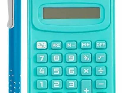 Kit Presente Calculadora E Caneta