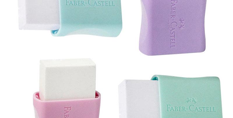 Borracha Branca Pequena Capa em Tons Pasteis - Faber-Castell