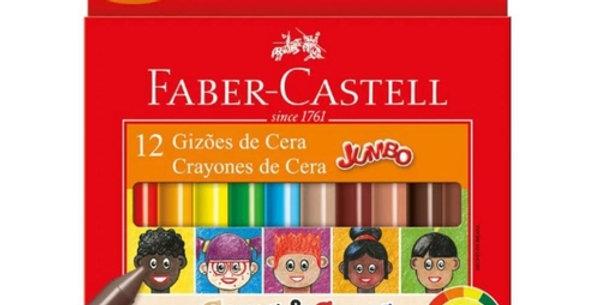Gizões de Cera Caras e Cores Com 12 cores Faber-Castell