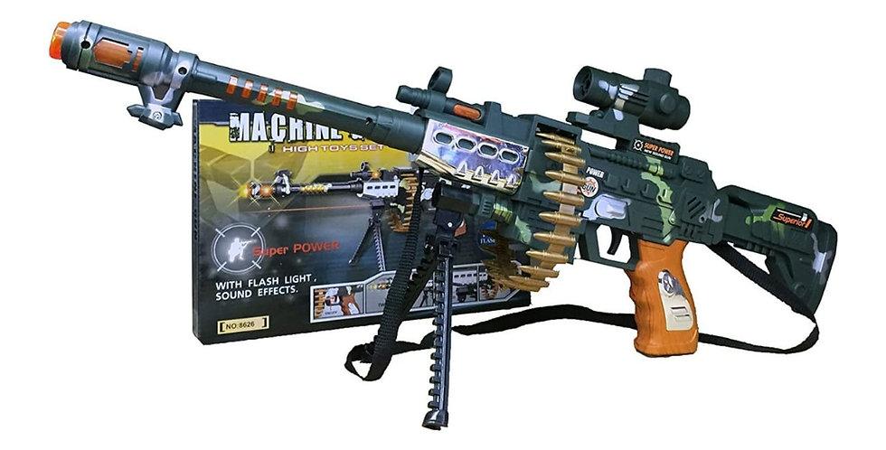 ARMINHA MACHINE GUN - COM LUZ E SOM