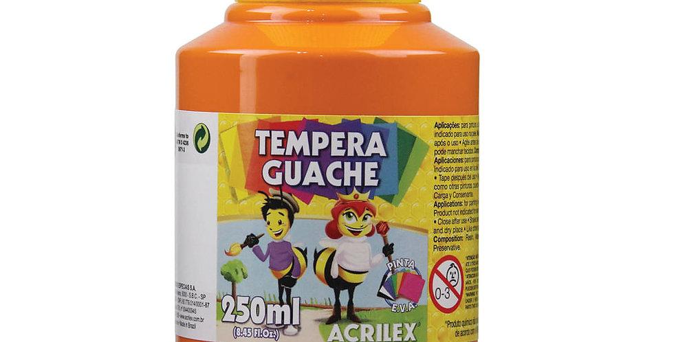 Tinta Guache 250 Ml Laranja Acrilex