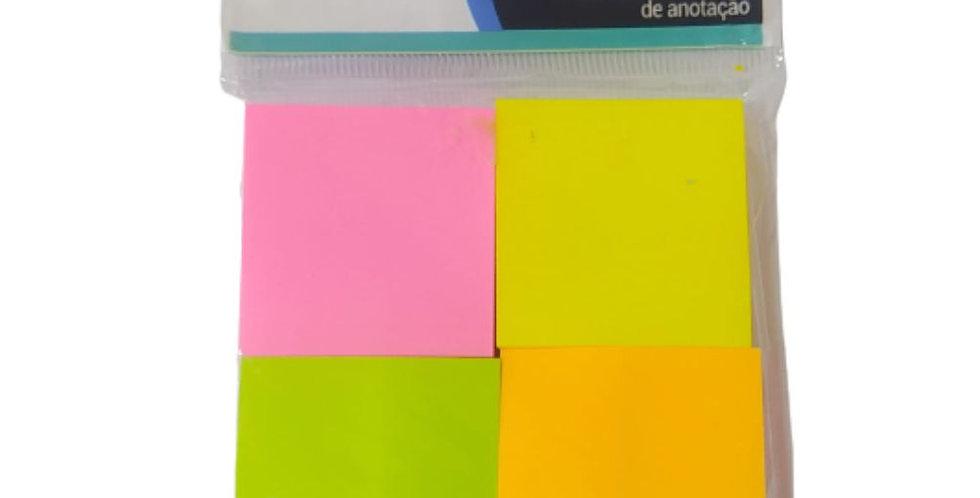 Bloco Auto Adesivo Post-it Recado Lembrete 400 Folhas Neon