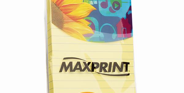 Bloco adesivo para lembretes e recados Amarelo com pauta 148mm X 102mm Papel ade